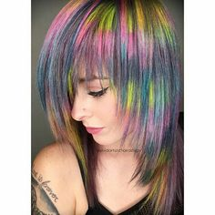 Amazing color and I love the cut  repost from @vividartistichairdesign @marissarmiller is the jam  Thanks for letting my practice something different on you. You'll never change if you never change ✨✨#vivid #vivideducation #mosaic #fragment #fragmentdesign #stylist #hair #hairstylist #colorfulhair @modernsalon @meltcosmetics @hairstyles @american_salon @kenraprofessional @embee.meche @framarint
