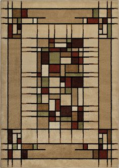 Features:  -Contemporary style.  -Colors: Beige, brown, green, gold and burgundy.  Technique: -Machine woven.  Material: -Synthetic.  Country of Manufacture: -United States.  Rug Shape: -Rectangle/Run