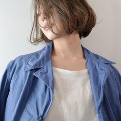 ボブ 透明感 耳かけ ナチュラル ヘアスタイルや髪型の写真・画像 ヘアスタイルや髪型の写真・画像 Vest, Denim, Hair, Women, Fashion, Moda, Fashion Styles, Fashion Illustrations, Strengthen Hair