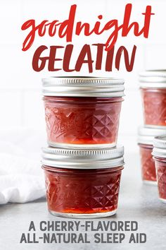 Goodnight Gelatin is a cherry-flavored all-natural sleep aid that can help you drift off to dreamland. Enjoy as a nightcap and dessert! All Natural Sleep Aid, Natural Sleeping Pills, Cooking With Turmeric, Natural Sleep Remedies, Insomnia Remedies, Eating Habits, Natural Health, Dressings, Herbalism