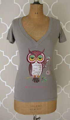 owl shirt,love