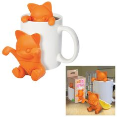 Hang in there, baby! Perk up during that afternoon lull with your favorite loose leaf tea, steeped by this adorable silicone kitty. Simply perch this friendly feline on the side of your cup, let steep, and enjoy!