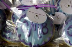 Up close picture of the personalized (and monogrammed) cookie favors from my bridal luncheon.