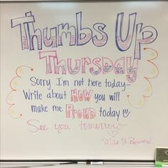 Thumbs Up Thursday More
