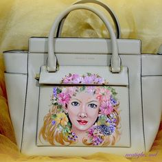 Commissioned artwork on Charles and Keith bag. #handpainted bag #handpainted #bag #personalized #custombag #ncatigbemd #gift #acrylic