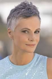 Image result for grey pixie cut