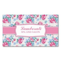 Floral Pattern Elegant Hairdresser Stylist Salon Business Cards. I love this design! It is available for customization or ready to buy as is. All you need is to add your business info to this template then place the order. It will ship within 24 hours. Just click the image to make your own!