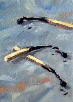 "Daily Paintworks - ""Matches"" - Original Fine Art for Sale - © Irina Beskina"