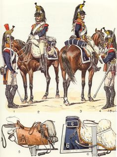 NAP- France: French Cuirassiers 1810-1814 (pl 37) 1, by Lucien Rousselot.