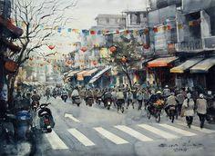 Winter at Hanoi No.3 by Direk Kingnok
