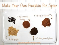 Make Your Own Pumpkin Pie Spice and Save Money from cupcakesandcrinoline.com