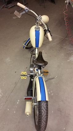 Custom Moped, Custom Bikes, Moto Bike, Motorcycle Bike, Vintage Moped, Vespa, Powered Bicycle, Diy Go Kart, Cars