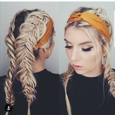 Front to back braids and Bandana. I'm thinking Lydia likes this photo. Because her IG name is so she has to like it. Bandana Hairstyles, Pretty Hairstyles, Braided Hairstyles, Bandana Updo, Hairstyle Ideas, Hair Ideas, Back Braid, Beauty Photos, Human Hair Extensions