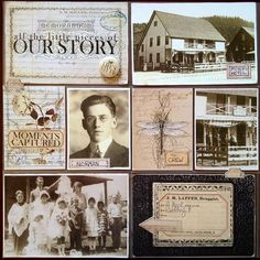 42 Trendy Family History Scrapbook Pages Old Photos Heritage Scrapbook Pages, Pocket Page Scrapbooking, Scrapbooking Digital, Vintage Scrapbook, Scrapbook Page Layouts, Scrapbook Cards, Scrapbooking Ideas, Scrapbook Designs, Travel Scrapbook