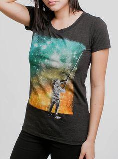 647e756ccbf Moon - White on Heather Black Triblend Womens T-Shirt