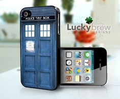 iPhone 4 4s Hard Case  Tardis Dr Who  Phone by LuckybrewDesigns, $15.88