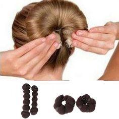 2pcs/set(1 large + 1 small) Hot Fashion Magic Elegant Buns Hair Style Bun Maker
