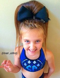 Cute cheer hair