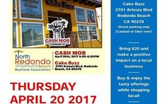 In two weeks Thursday 4/20 at 4:30pm - CASH MOB at CAKE BUZZ