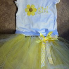I want it to say Aunt Callie's Flower Girl Shirt & Tutu. But be pink for the girls. :)