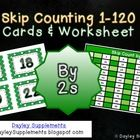 Just what you need to get those little ones counting by twos. These cards can be printed, cut, laminated, and ready to go in minutes. Maths Times Tables, Counting In 2s, Envision Math, School Fun, School Ideas, Math Numbers, Math Workshop, Homeschool Math, Elementary Math