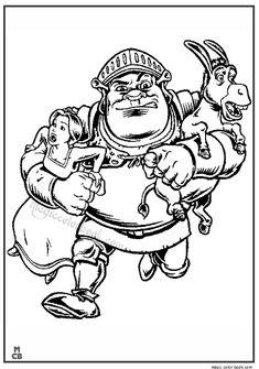 31 best Shrek Coloring pages free online images on Pinterest | Shrek ...