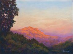Mont Sainte-Victoire by Olli Malmivaara, Soft pastel on Pastelmat 30 x 40 cm