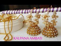 how to make ring model Bridal Jhumkas at Home Silk Thread Jumkas, Silk Thread Earrings, Thread Jewellery, Diy Jewellery, Jewellery Making, Jewelry Making Tutorials, Video Tutorials, Quilling Earrings, How To Make Rings