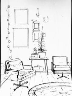 Furniture Sketch Sofa - - - Rustic Furniture Stain - Old Furniture Before And After - Croquis Architecture, Interior Architecture Drawing, Drawing Interior, Interior Design Sketches, Interior Design Tips, Architecture Design, Interior Logo, Nordic Interior, Classical Architecture