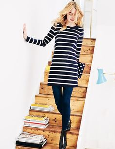Collared Breton Tunic - my continued obsession with navy blue....