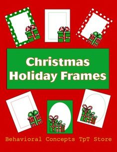 Free for a short time. Christmas Background - Holiday Frames. Clip Art. (Borders and Frames.)About This Product: Holiday Frames. 6 holiday Frames.