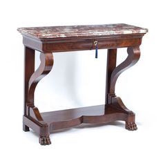 Antique French Charles X Mahogany Console Table c.1825