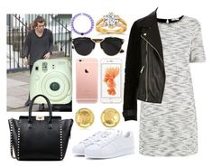 """""""walk with your fiancé Harry."""" by crazymofo13 ❤ liked on Polyvore featuring Oasis, River Island, Christian Dior, Michael Kors, Annello, adidas and Valentino"""
