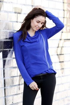 $18.99 // Women's Zip Up Solid Jacket // This jacket with fine angled zip up is essential item for fashionista for this fall/winter season. Soft and stretchable fabric will give a comfort and cozy feeling. The cowl neck line is a great feature to keep yourself warm. You have a variety of color choice; black, red, blue, mustard, olive, charcoal, grey, and rust. #ZipUp #Front #Solid #Jacket #SidePockets #Soft #Fabric and #ComfyFit
