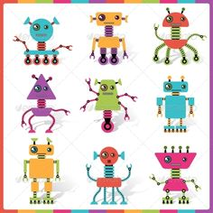 Abstract Robot Doodle Collection #GraphicRiver Zip file contains fully editable EPS8 RGB vector file and high resolution pixels RGB Jpeg image. EPS File made using gradients. It does not contain transparency, blends, meshes. File does not contain foreign objects such as outside assets, brushes, symbols, fonts, images or other resources. Objects in the file are distributed by organized layers. Created: 20March13 GraphicsFilesIncluded: JPGImage #VectorEPS Layered: No MinimumAdobeCSVer