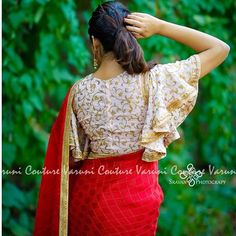 Looking for stylish blouse designs for sarees? Here are chic blouse models with fancy neck and sleeve designs that you can wear with any saree. Blouse Back Neck Designs, Silk Saree Blouse Designs, Fancy Blouse Designs, Dress Designs, Boat Neck Designs Blouses, Saree Jacket Designs Latest, Indian Blouse Designs, Kurta Designs, Saris