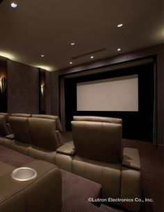 Relax And Enjoy Home Entertainment With A Lutron Light Control System To Create The Perfect Setting Cinema Roomhome Theater Roomslighting