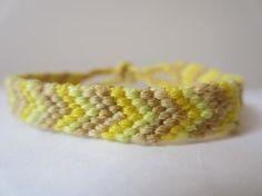 Chevron Braided Friendship Bracelet  Bright by beausbitsandbobs, £4.20