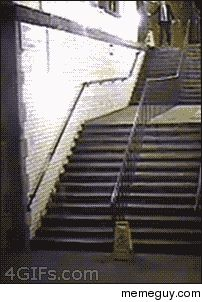 That awkward moment your drunk off your ass and the flight of stairs never end.