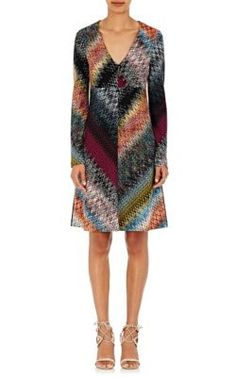 MISSONI Zigzag Knit V-Neck Dress. #missoni #cloth #dress