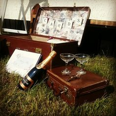Vintage suitcase for wedding hire