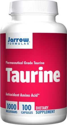 Jarrow Formulas Taurine, Brain and Memory Support, 1000 mg, 100 Capsules -- Learn more by visiting the image link.