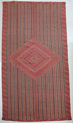 Saltillo Serape, Mexico, 1800-1850  Associated with use by horsemen, which accounts for their considerable size.