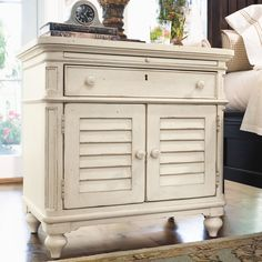 Paula Deen Home Steel Magnolia Door Nightstand in Linen