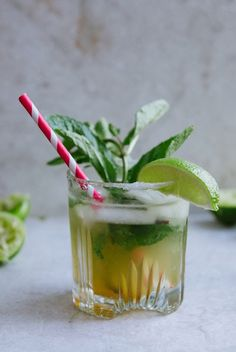 The Kentucky Mojito | A fun twist on the classic mojito that uses bourbon instead of rum!