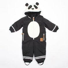 Panda Overall Black