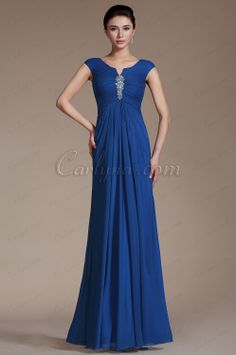 Carlyna Blue Cap Sleeves Empire Waistline Evening Dress Prom Gown   www.carlyna.com/carlyna-2014-new-blue-cap-sleeves-empire-waistline-evening-dress-prom-gown-c00141205-_p433.html