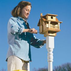 Build this neat looking birdhouse that the birds will like too. You can do it in about a half day for less than $20, following our step-by-step instructions.