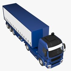 1:43 Ixo semitrailer with canvas top Grey//Blue//red
