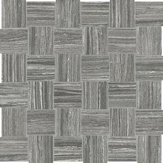 "2""x2"" Eramosa Carbon Mosaics #Porcelain www.anatoliatile.com #Tile"